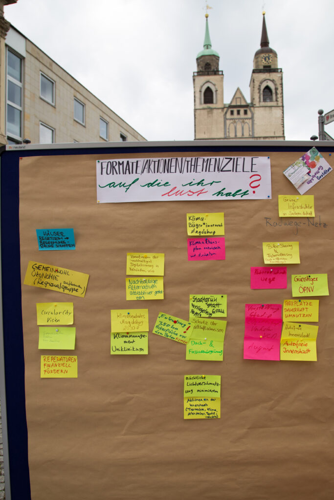 """Pinnwand """"Formate/Aktionen/Themen/Ziele auf die ihr Lust habt?"""""""